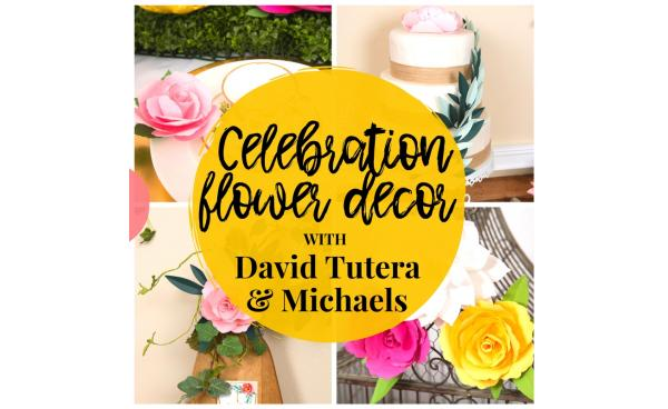 Celebration Flower Decor With David Tutera And Michaels!