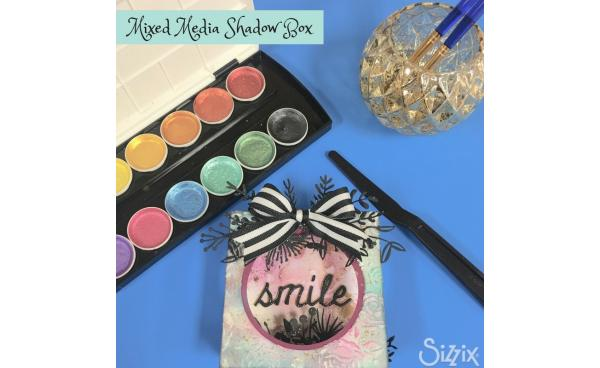 This Mixed Media Shadow Box is Sure To Make You Smile!