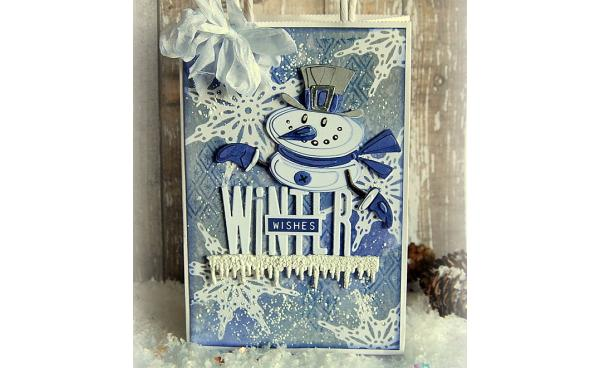 Winter Gift Bag using Tim Holtz Colorize collection - by Kath Stewart