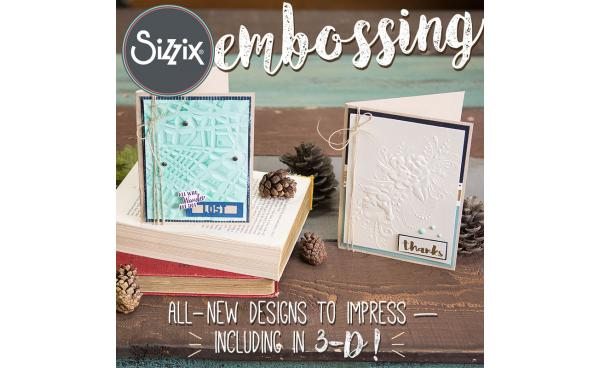 Available Now On Sizzix.com: New Embossing Folders By Sizzix