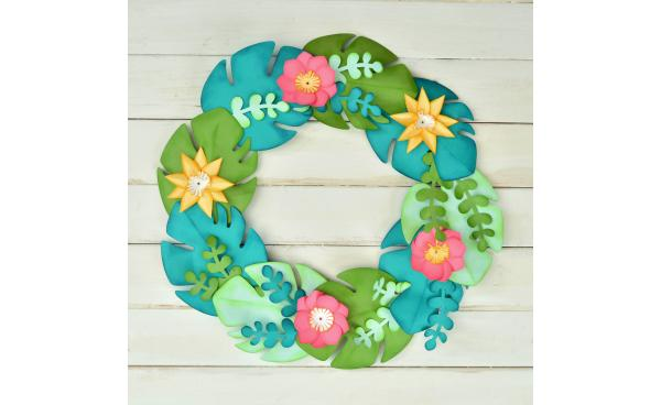 How To Make This Tropical Wreath!