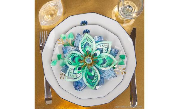 Floral Centerpiece Decor: Intricate 3-D Flowers!