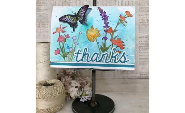 DIY Dimensional Butterfly Card