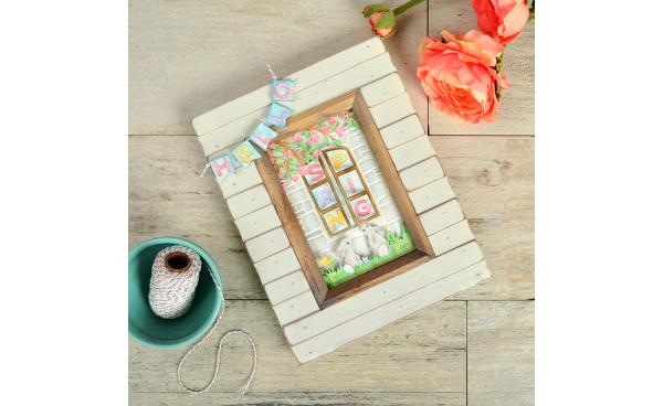 Make a Framed Window Scene to Say Hello to Spring