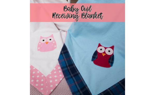 Sew Cute With Walmart: Baby Owl Receiving Blanket