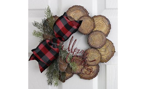 Festive Tree Ring Wreath by Jan Hobbins