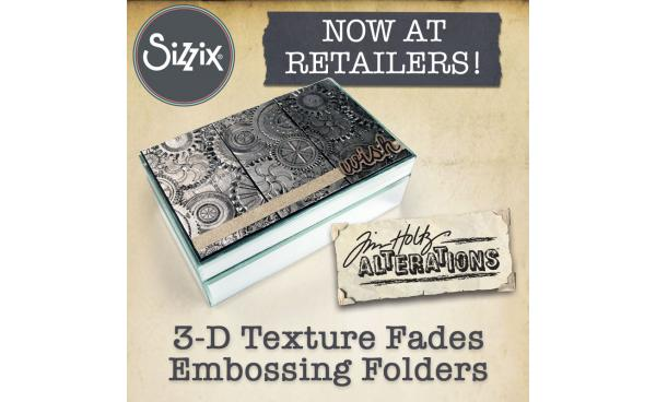 Shop TODAY at Your Local Craft Store: Tim Holtz's 3-D Embossing Folders!