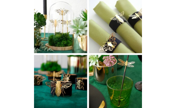Botanical inspired tablescape! - Guest blog by 'Birds Party'